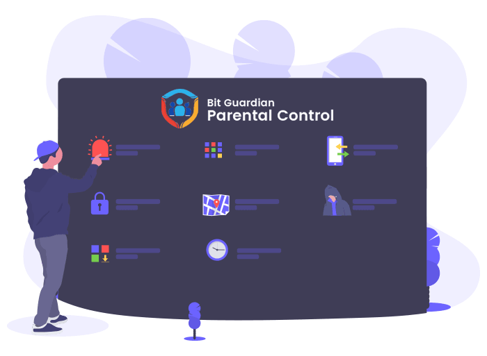 Bit Guardian Parental Control App Features