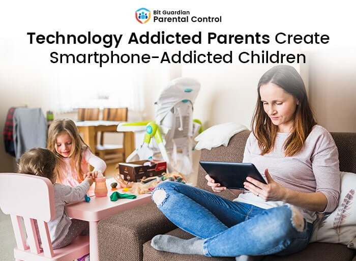 parents are addicted to phones