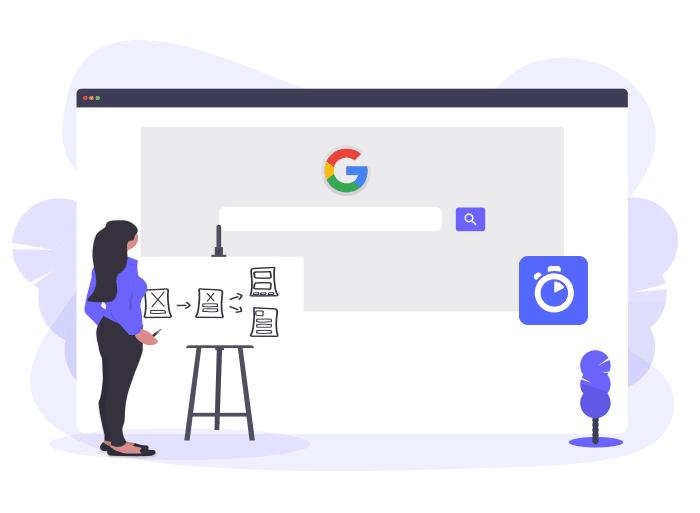User looking at Google 404 error