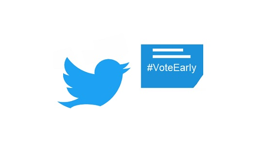 Twitter encourages early vote