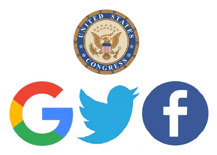 Facebook, Google and Twitter in front of the Congress