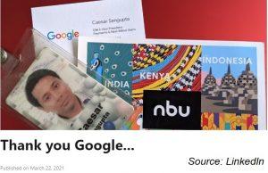 Caesar Sengupta decided to leave Google, next month