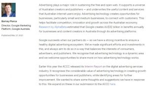 Google wants to change rules for ads in Australia