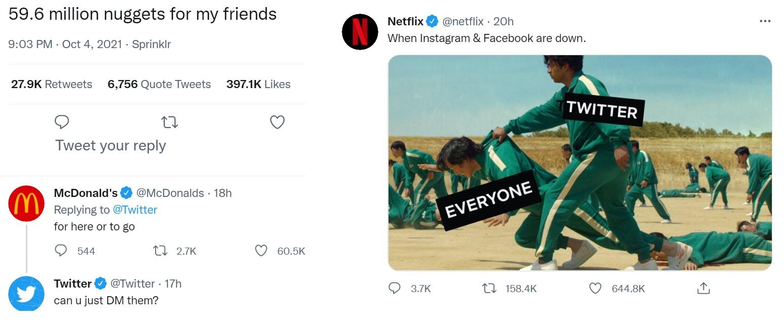 Twitter - McDonalds and Netflix