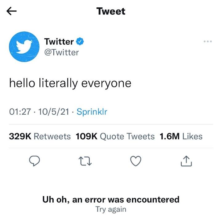Twitter trolling Facebook